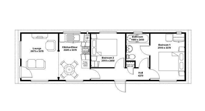 Mackworth lodge 2 bed floorplan