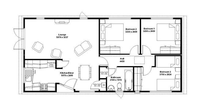 Mackworth lodge 3 bed floorplan