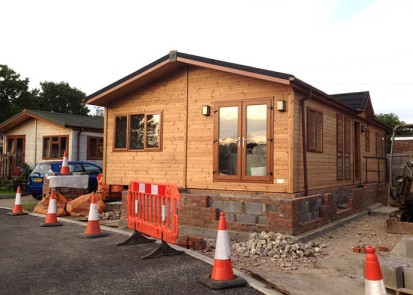 Lodge no. 7 groundwork in progress